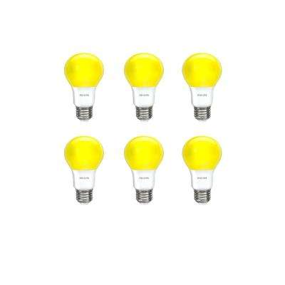 60-Watt Equivalent A19 LED Bug Yellow (6-Pack)