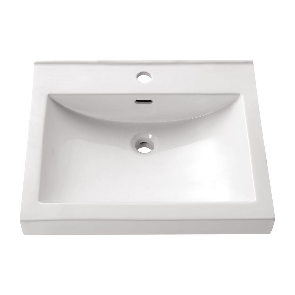 Avanity Above Counter Vessel Sink In White