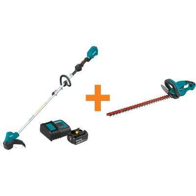 18-Volt LXT Lithium-Ion Brushless String Trimmer Kit with Bonus 22 in. 18-Volt LXT Lithium-Ion Cordless Hedge Trimmer