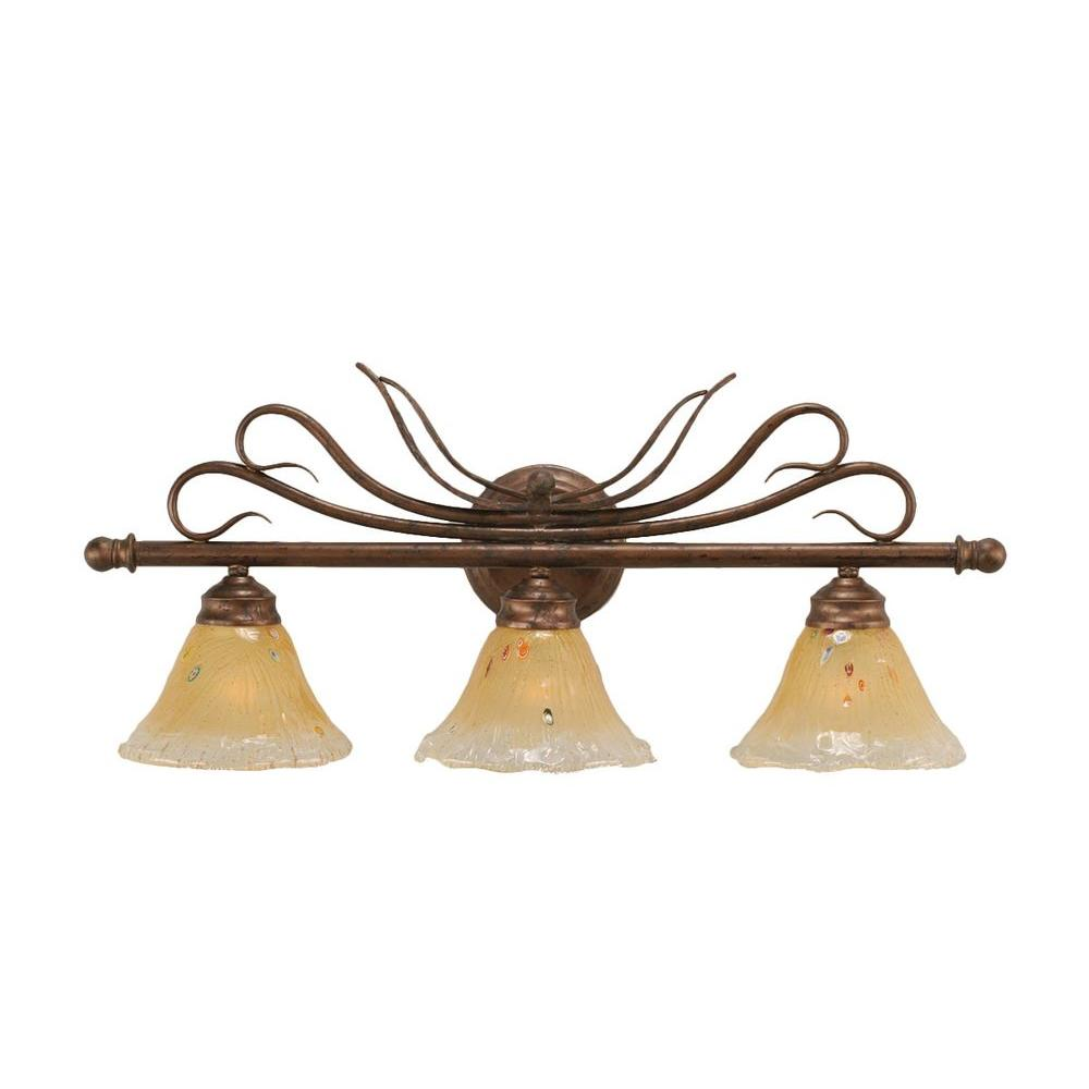 Filament Design 3 Light Bronze Bath Vanities Light With
