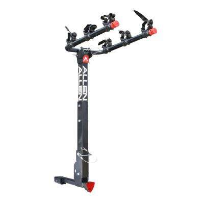 105 lbs. Capacity Locking 3-Bike Vehicle 2 in. and 1.25 in. Hitch Bike Rack
