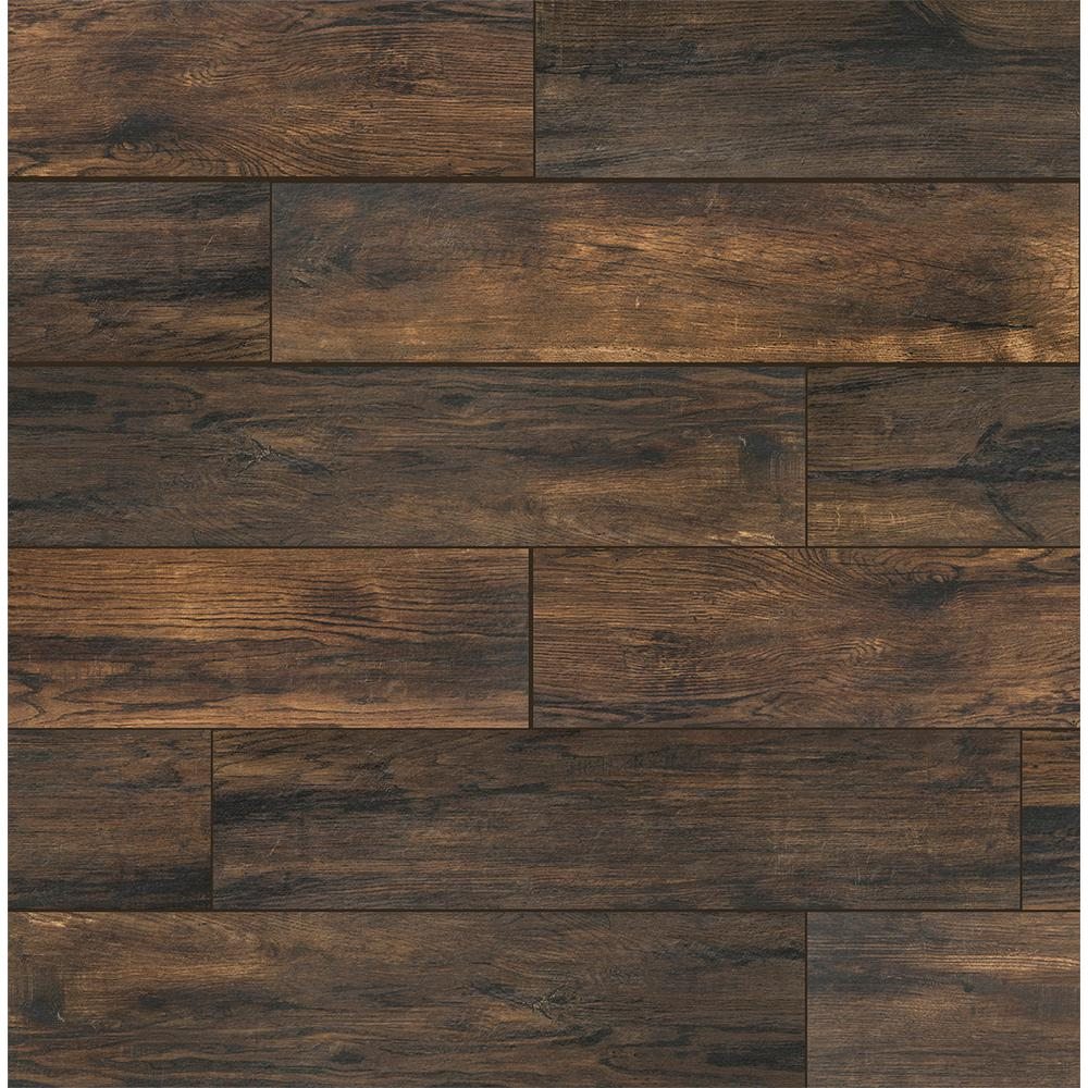 Florida Tile Home Collection Smoked Hickory 8 In X 36 In Porcelain Floor And Wall Tile 367 2 Sq Ft Pallet Chdeaj018x36p The Home Depot