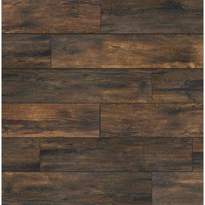 Smoked Hickory 8 in. x 36 in. Porcelain Floor and Wall Tile (367.2 sq. ft. / pallet)