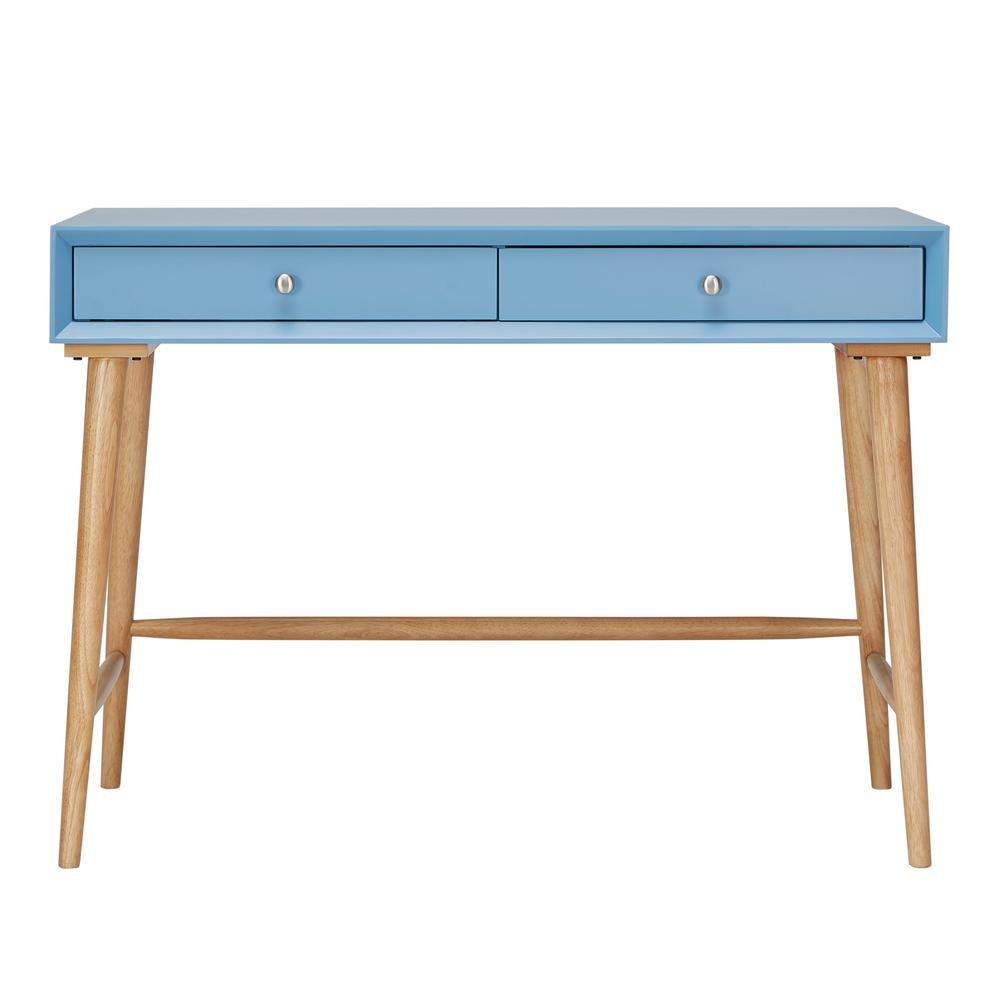 Wyatt Mid Century Blue Writing Desk