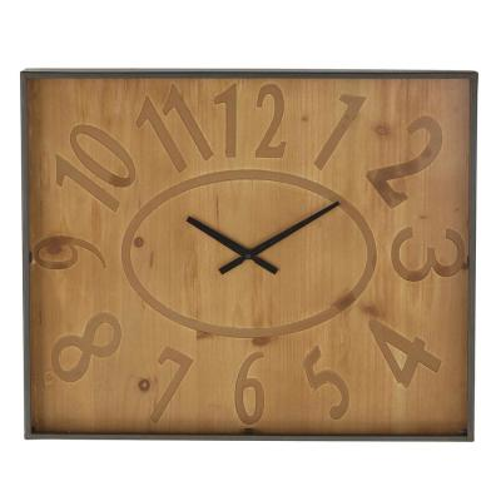 16 x 20 in. Rustic Brown Wall Clock