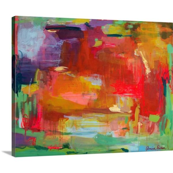 GreatBigCanvas 20 in. x 16 in. ''Orange Attack, 2015'' by Amira
