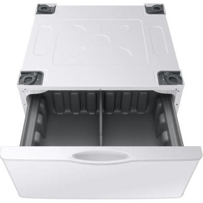 14.2 in. White Laundry Pedestal with Storage Drawer