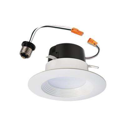 LT 4 in. 5000K Integrated LED White Recessed Ceiling Light Retrofit Trim, Daylight