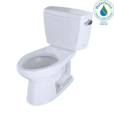 Eco Drake ADA Compliant 2-Piece 1.28 GPF Single Flush Elongated Toilet with Right Hand Trip Lever in Cotton White