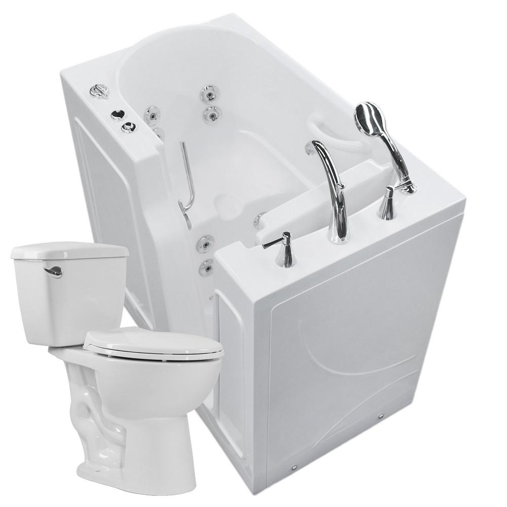 Universal Tubs 45.75 in. Walk-In Whirlpool Bathtub in White with ...