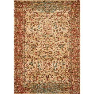 Cordoba Sand/Coral Traditions 8 ft. x 11 ft. Area Rug