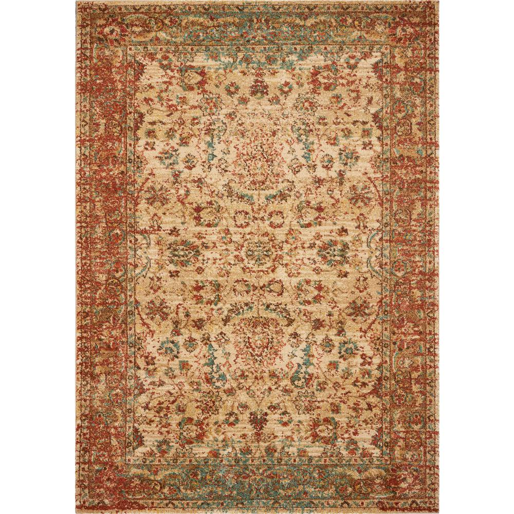 Kas Rugs Cordoba Sand Coral Traditions 10 Ft X 14 Ft