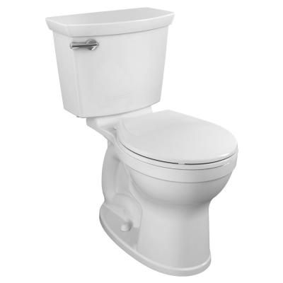 Champion Tall Height 2-Piece High-Efficiency 1.28 GPF Single Flush Round Front Toilet in White Seat Included