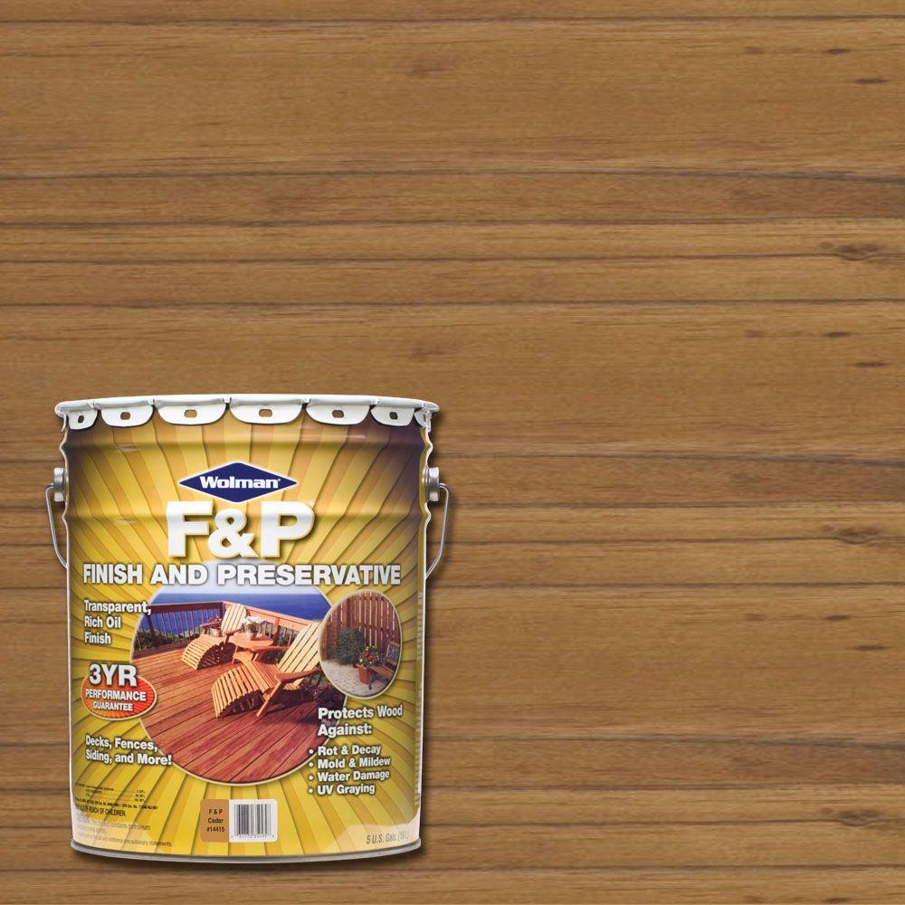 Wolman 5 gal. F&P Cedar Exterior Wood Stain Finish and Preservative
