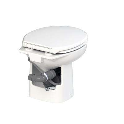Sanimarin 31 1-Piece 2.9 GPF Dual Flush Round Bowl 24-Volt Macerating Toilet System in White for Boat or RV