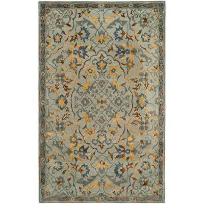 Bella Gray/Gold 5 ft. x 8 ft. Area Rug