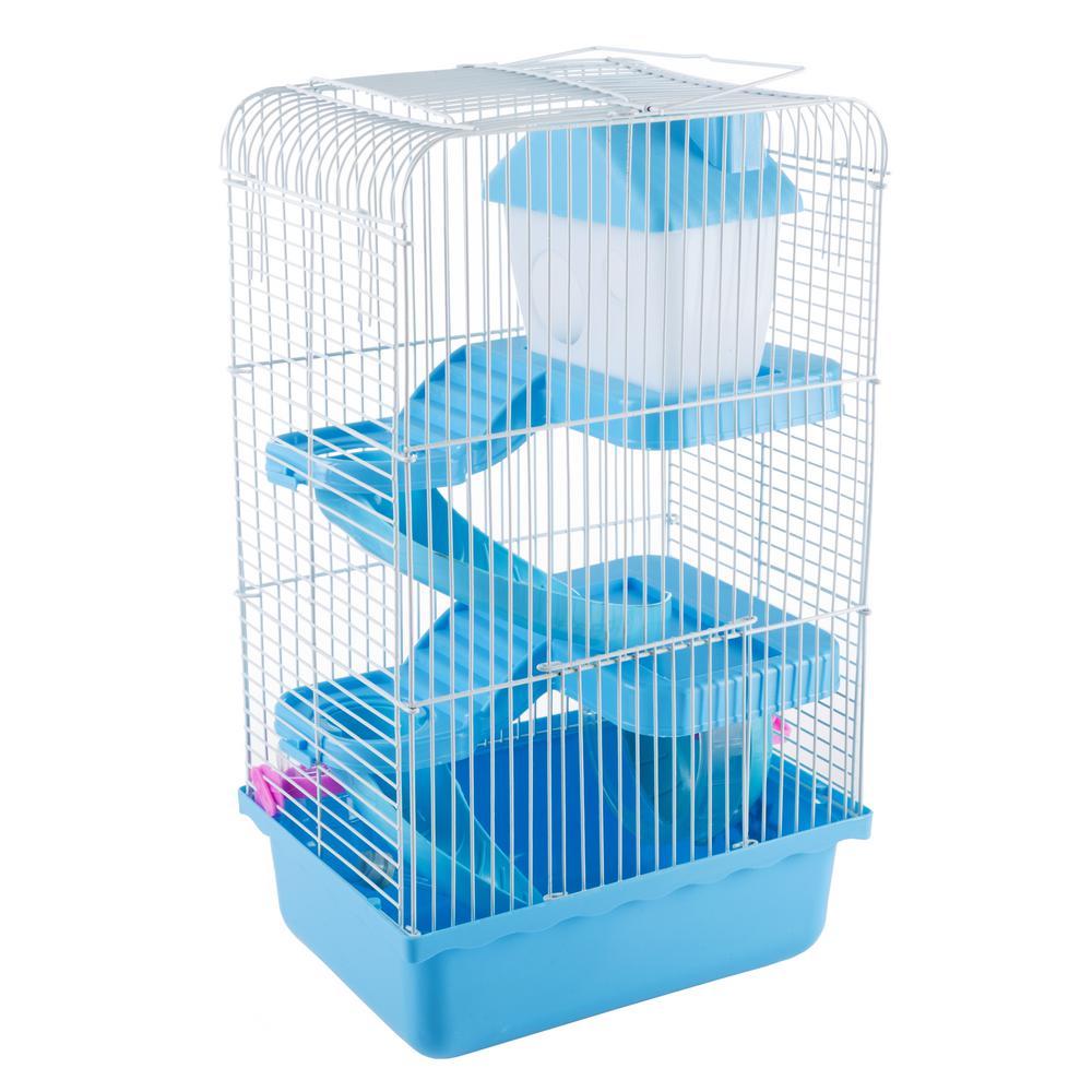 Blue Hamster Cage Habitat