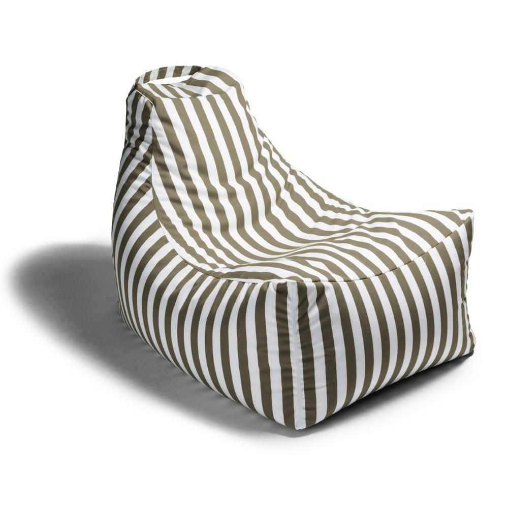 Wondrous Jaxx Juniper Taupe Stripes Outdoor Bean Bag Patio Lawn Chair Cjindustries Chair Design For Home Cjindustriesco
