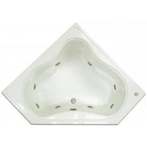 Pinnacle 4 48 Ft Corner Drop In Whirlpool Tub In White Lpi303 W The Home Depot