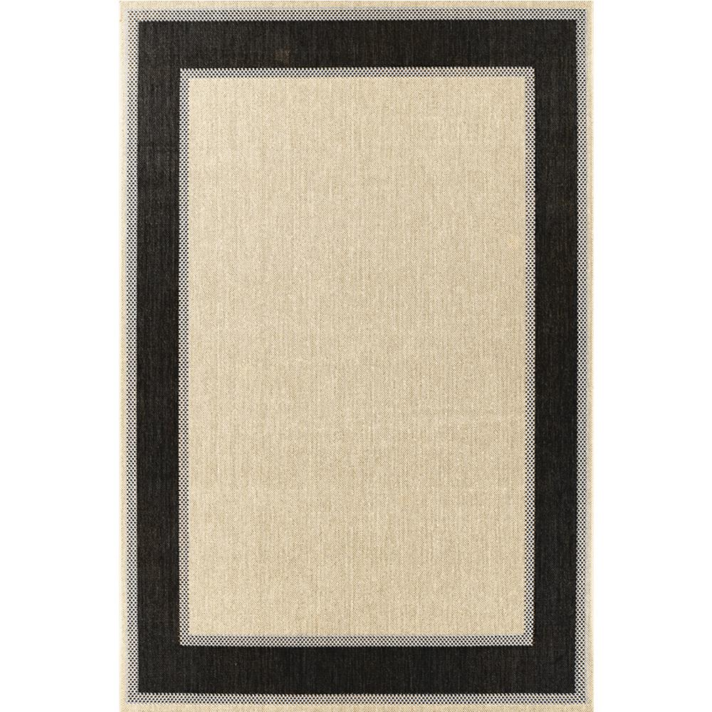 Outdoor Rug Hampton Bay Border Tan Black In X In 2356