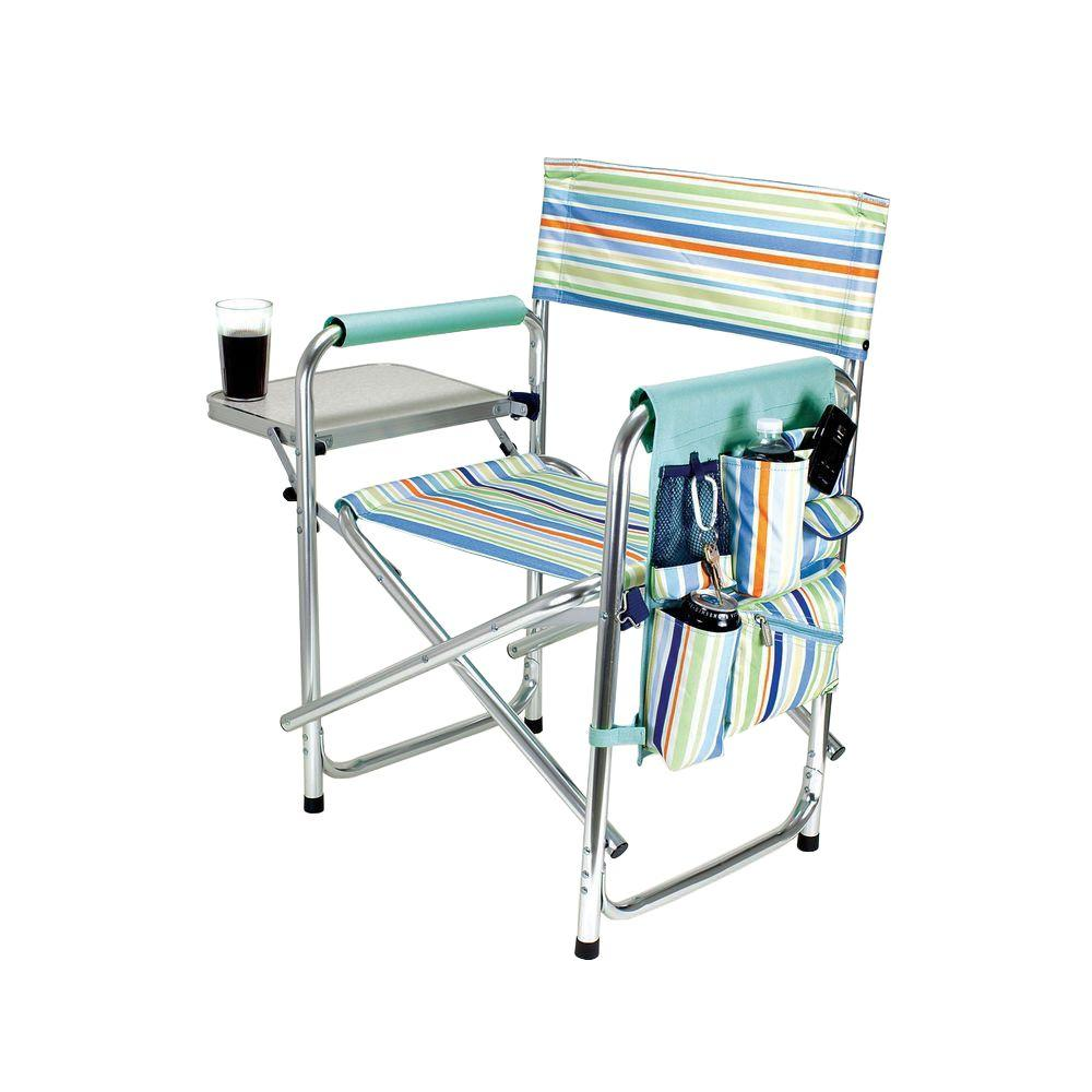 Picnic Time St Tropez Collection Sports Portable Folding Patio Chair