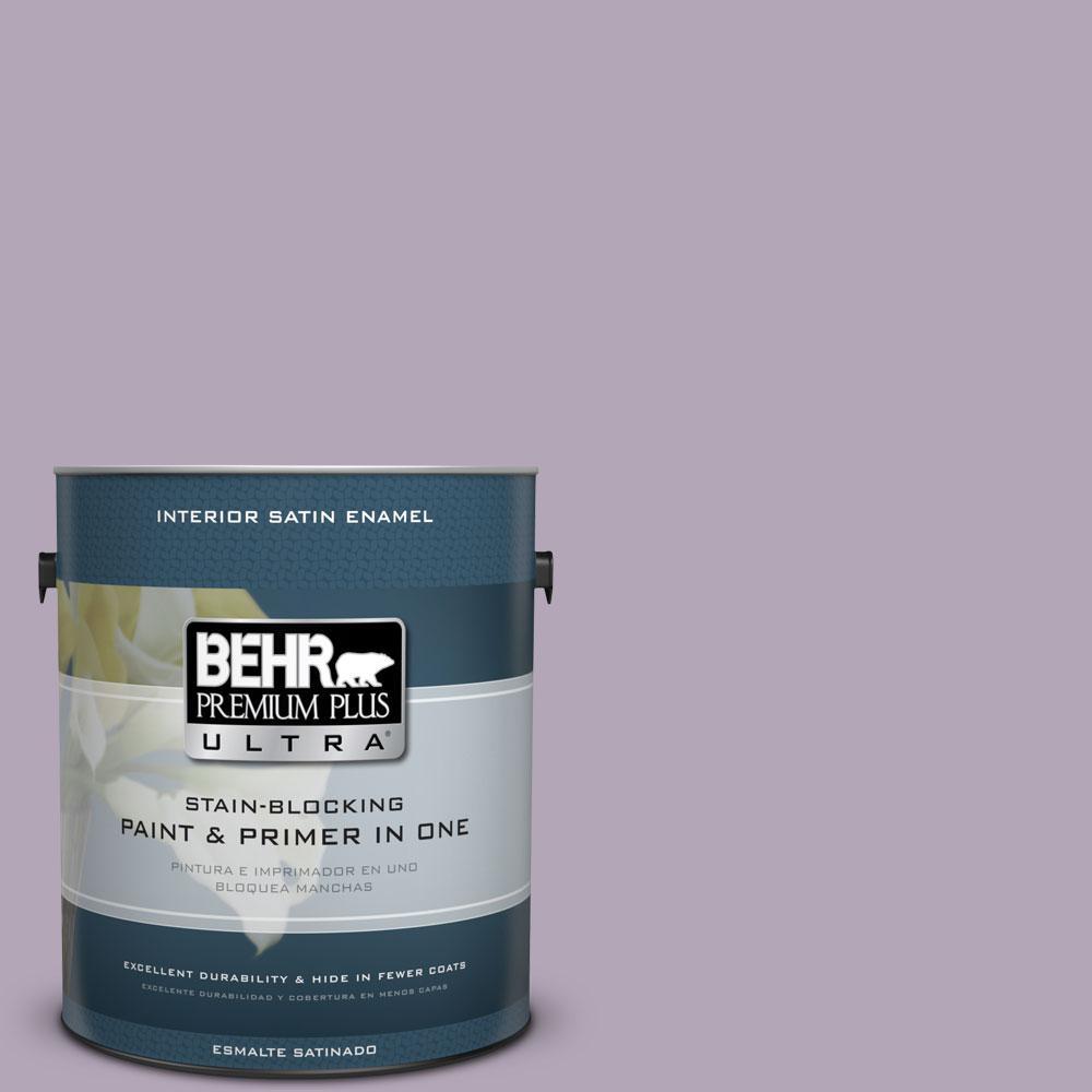 BEHR Premium Plus Ultra 1-gal. #660F-4 Plum Frost Satin Enamel Interior Paint