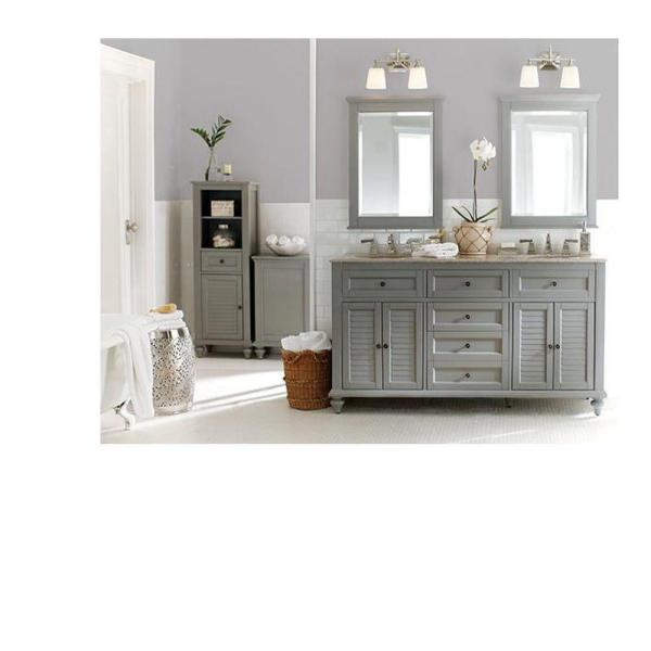 Home Decorators Collection 24 In W X 32 In H Framed Rectangular Bathroom Vanity Mirror In Seaglass 1234900310 The Home Depot