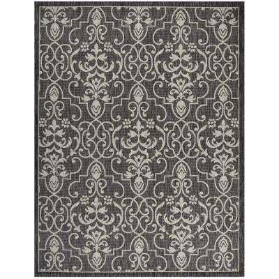 Country Side Charcoal 9 ft. 6 in. x 13 ft. Indoor/Outdoor Area Rug