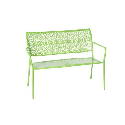 Martini Key Lime Green Finish 25 in. Metal Outdoor Garden Bench