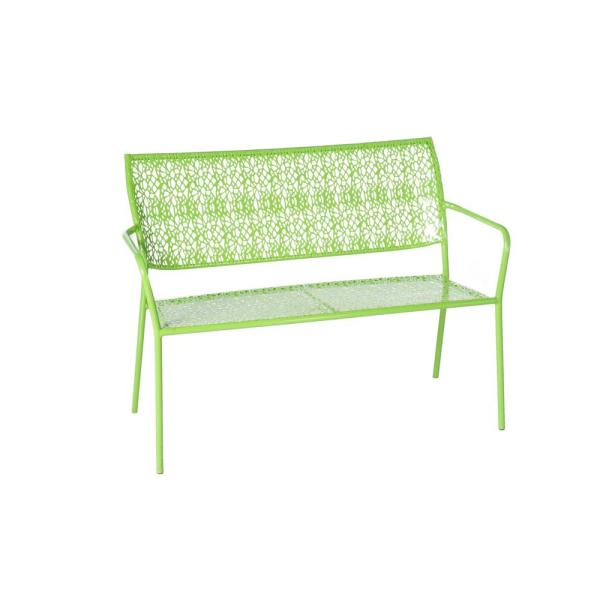 Alfresco Martini Key Lime Green Finish 25 in. Metal Outdoor Garden Bench