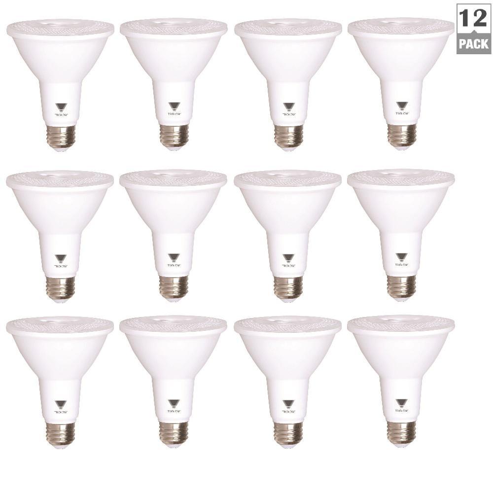 75-Watt Equivalent PAR30 Reflector LED 2700K 850 Lumens Dusk to Dawn Light Bulb Warm White (12-Pack)