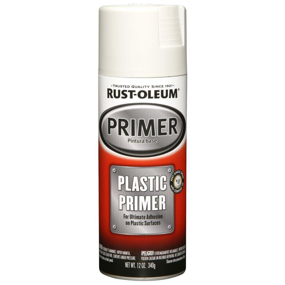 rust oleum automotive 12 oz white plastic primer spray 6. Black Bedroom Furniture Sets. Home Design Ideas