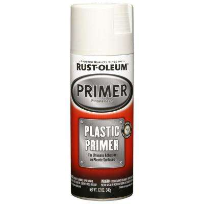 12 oz. White Plastic Primer Spray (6-Pack)