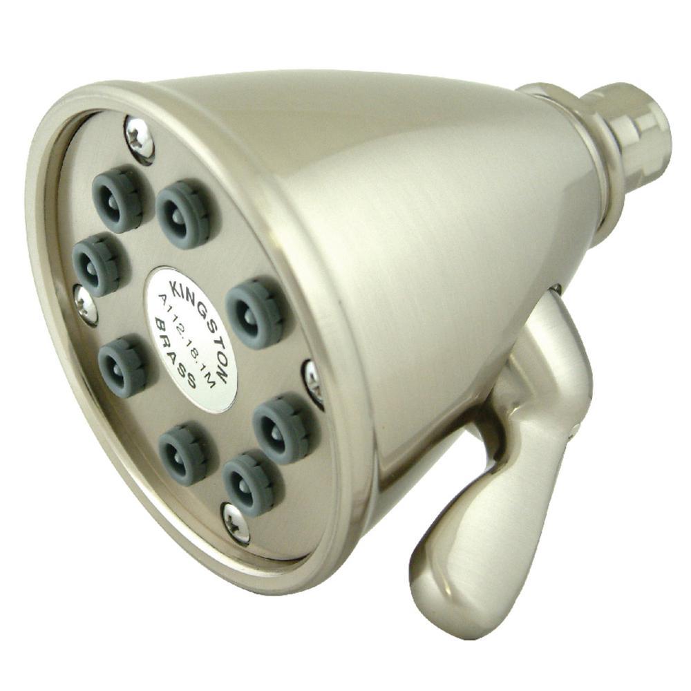 Victorian 3-Spray 3.6 in. Showerhead in Brushed Nickel