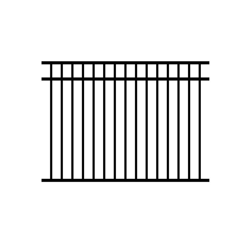 Jefferson 4.5 ft. H x 6 ft. W Aluminum Black Fence
