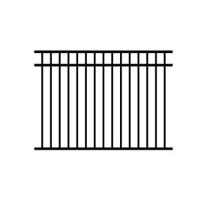 Jerith Jefferson 4.5 ft. x 6 ft. Aluminum Metal Black Fence Panel Section by Jerith