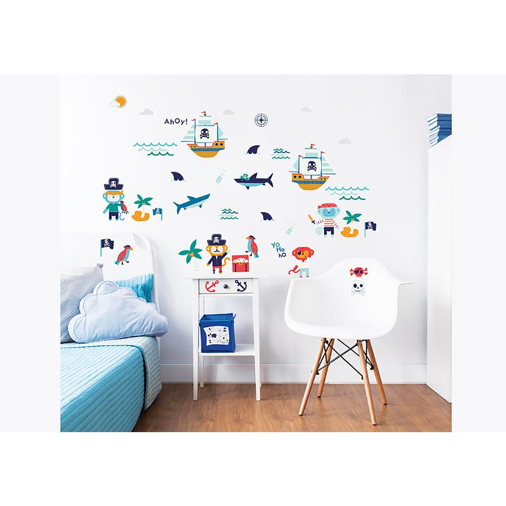 Walltastic blue pirate wall stickers wt45002 the home depot walltastic blue pirate wall stickers amipublicfo Gallery