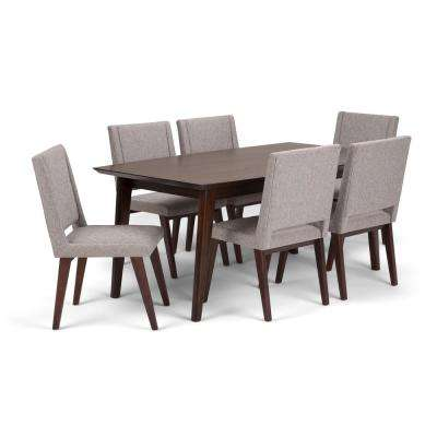 Draper Mid Century 7-Piece Grey Dining Set
