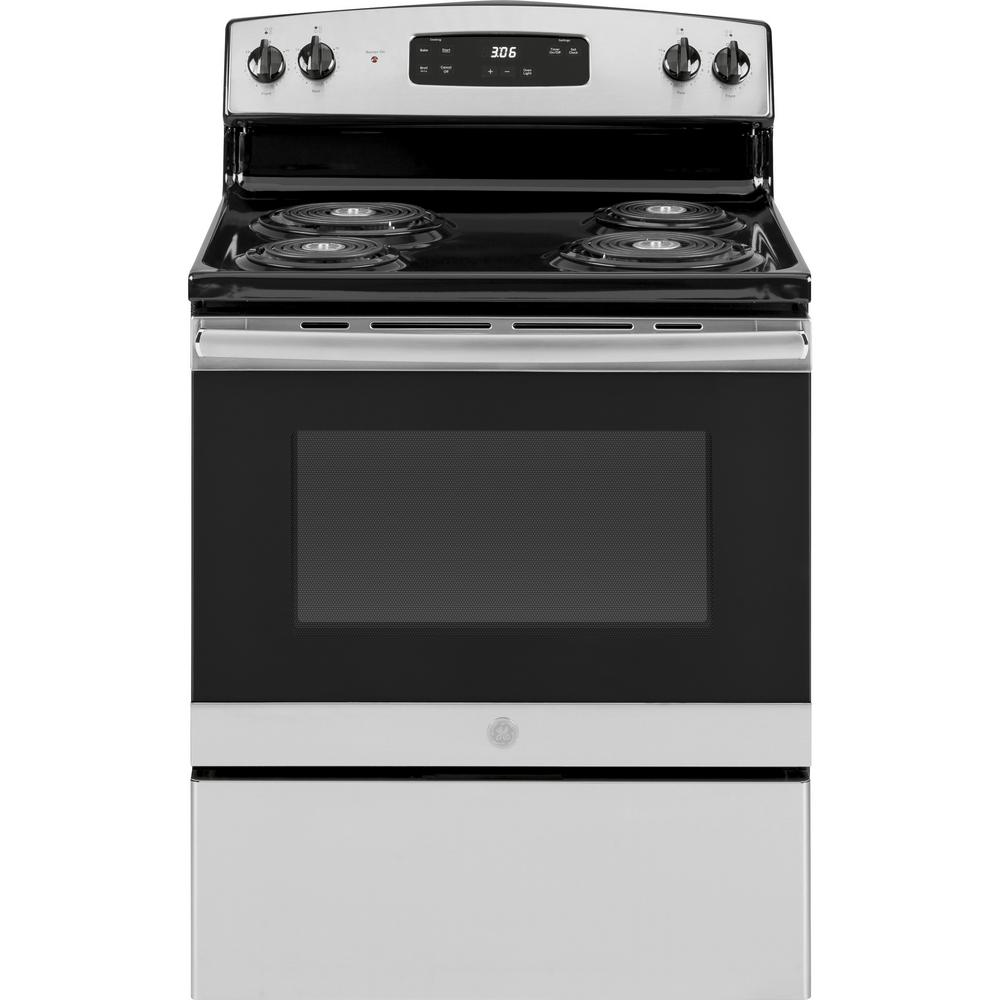 Ge 30 In 5 0 Cu Ft Electric Range
