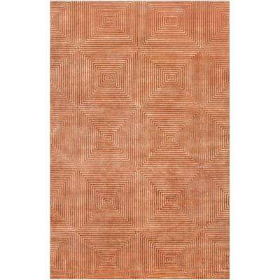 Candice Olson Rust Orange 5 ft. x 8 ft. Area Rug