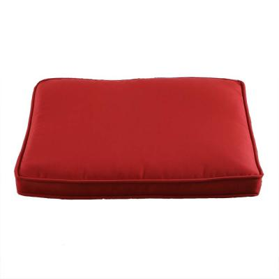 Patio Red 2-Piece Square Outdoor Seat Cushion