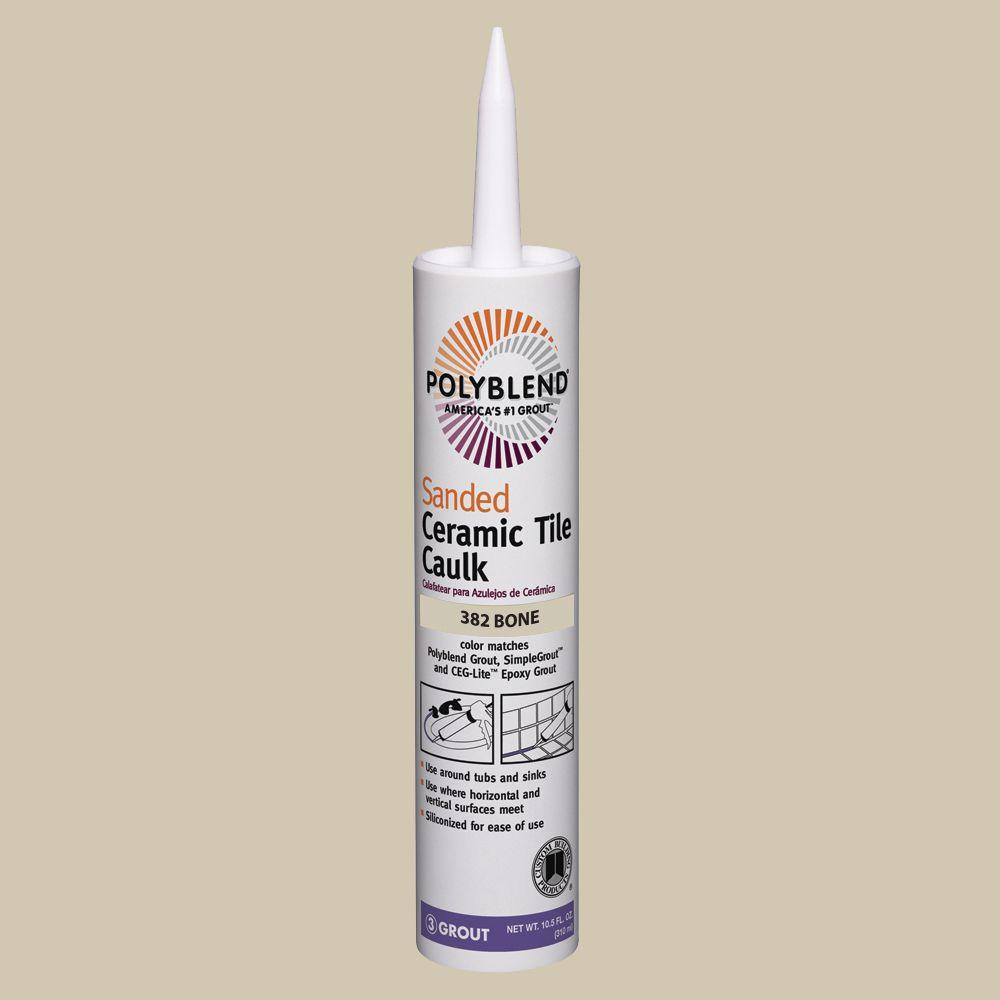 Custom Building Products Polyblend 382 Bone 10 5 Oz Sanded Ceramic Tile Caulk