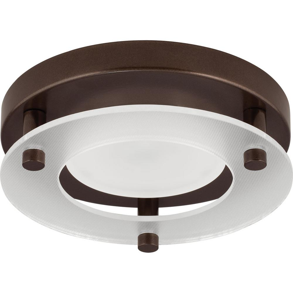5.5 in. Flush Mount Collection 10.5-Watt Antique Bronze Integrated LED