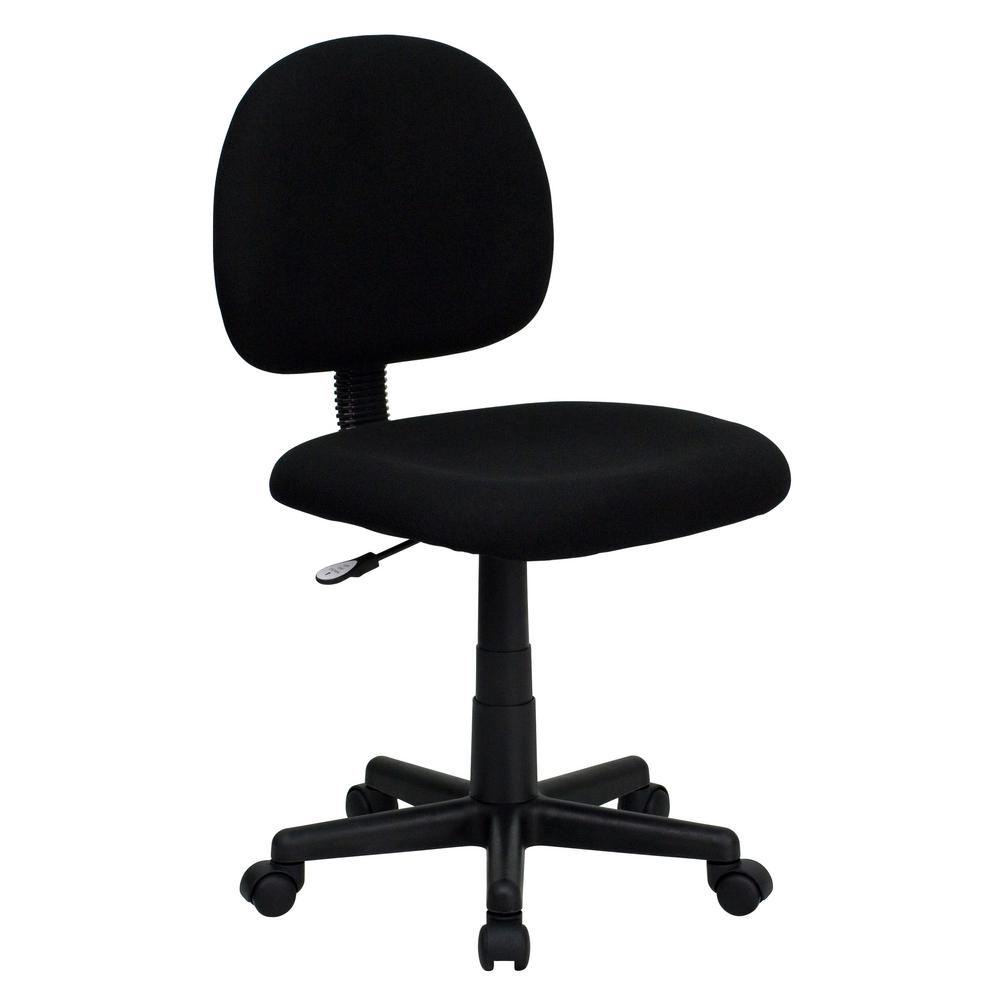 Flash Furniture Low Back Ergonomic Black Fabric Swivel Task Chair BT660BLK    The Home Depot