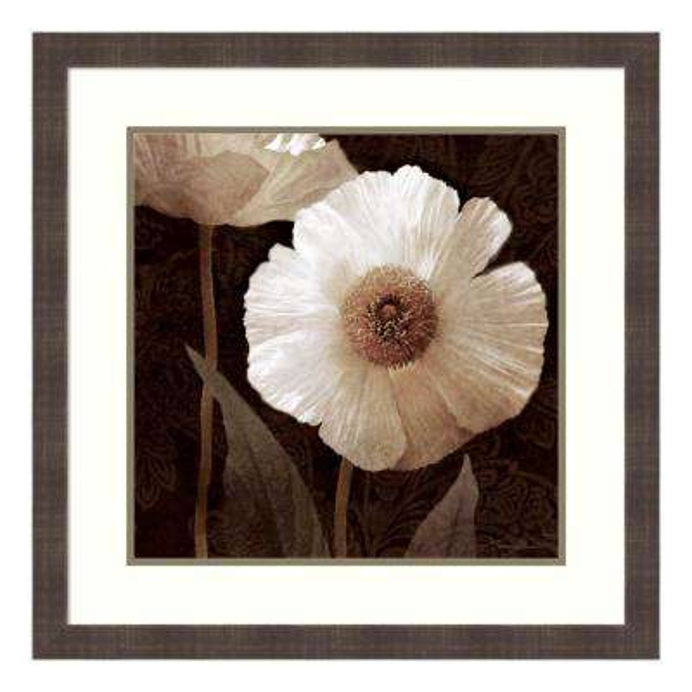 """Paisley Poppy II"" by Keith Mallett Framed Wall Art"