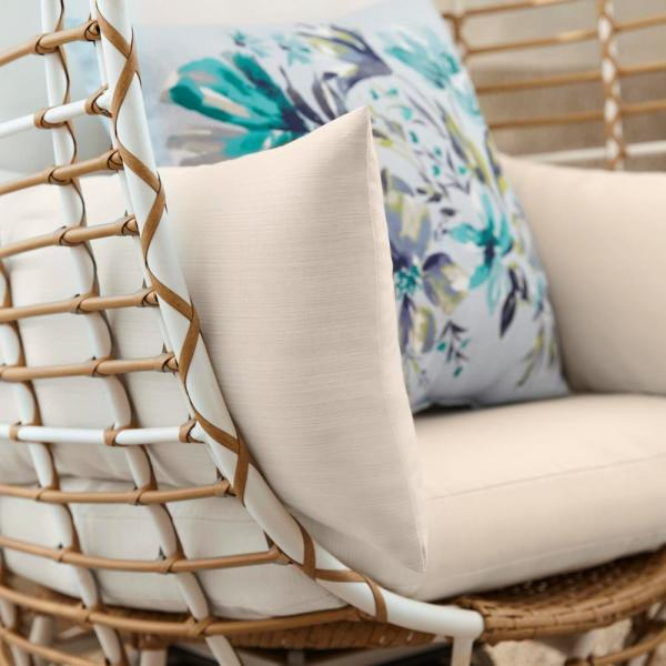 Stylewell Brown Wicker Outdoor Patio Egg Lounge Chair With Beige Cushions Frs50006b The Home Depot