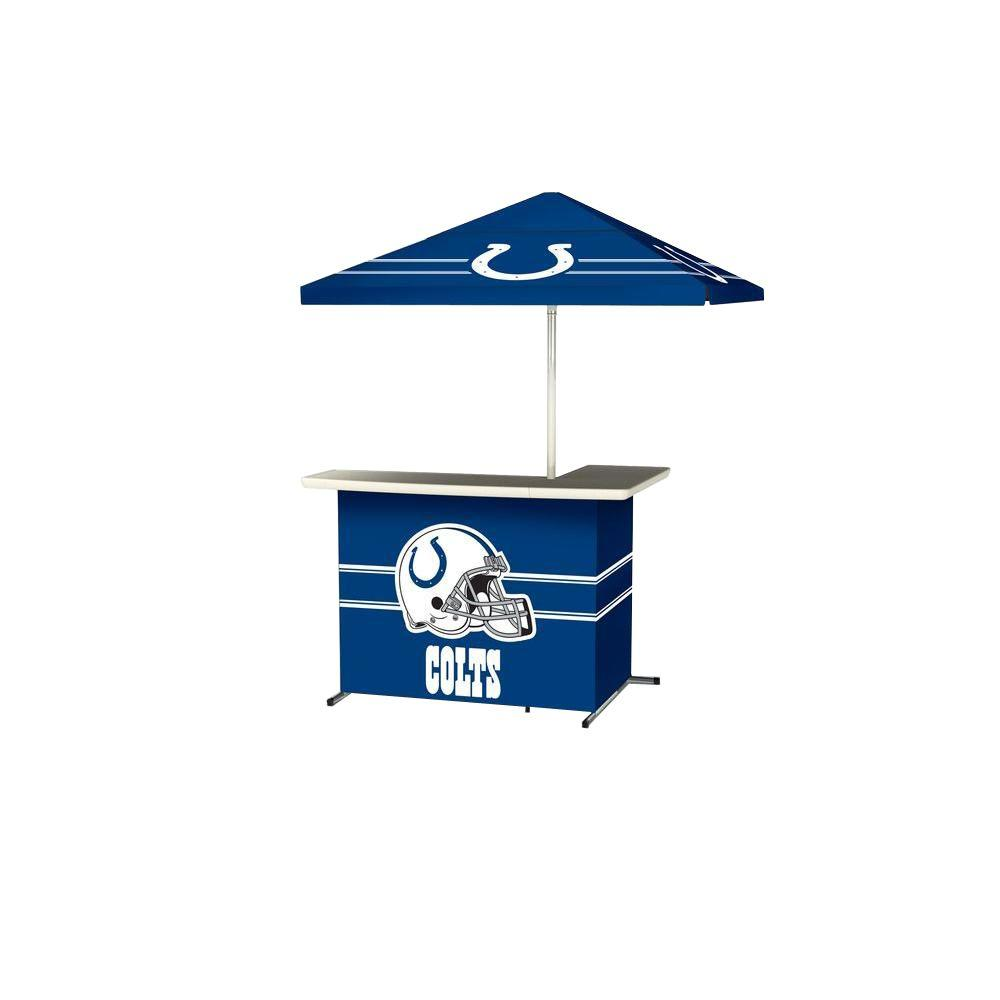 Indianapolis Colts All-Weather L-Shaped Patio Bar with 6 ft. Umbrella