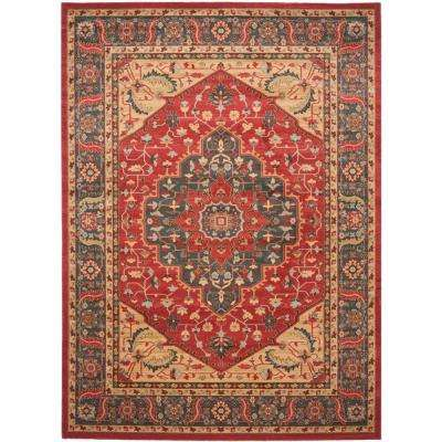 Red Fl 9 X 12 Area Rugs The Home Depot