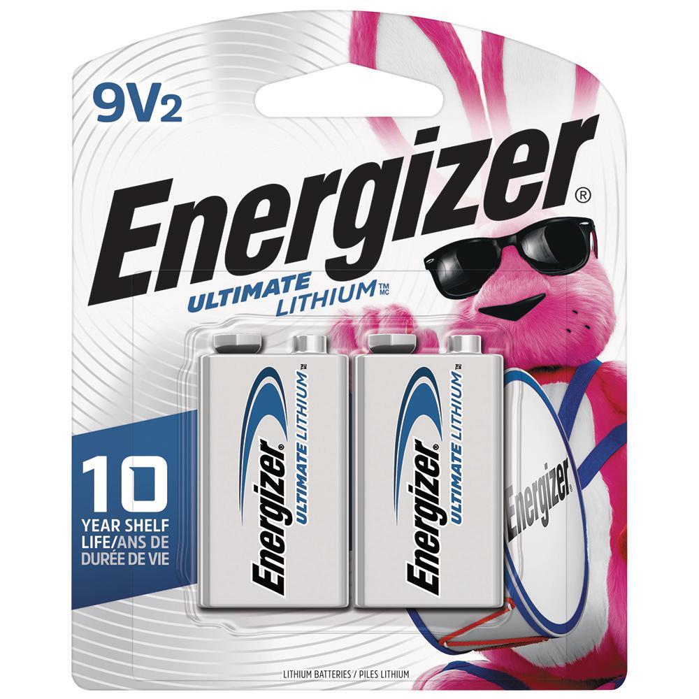 Energizer Ultimate Lithium 9-Volt Battery (2-Pack)