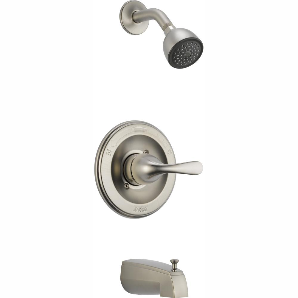 Delta Delta Classic 1-Handle Slip On Spout Tub and Shower Faucet Trim Kit in Stainless (Valve Not Included)